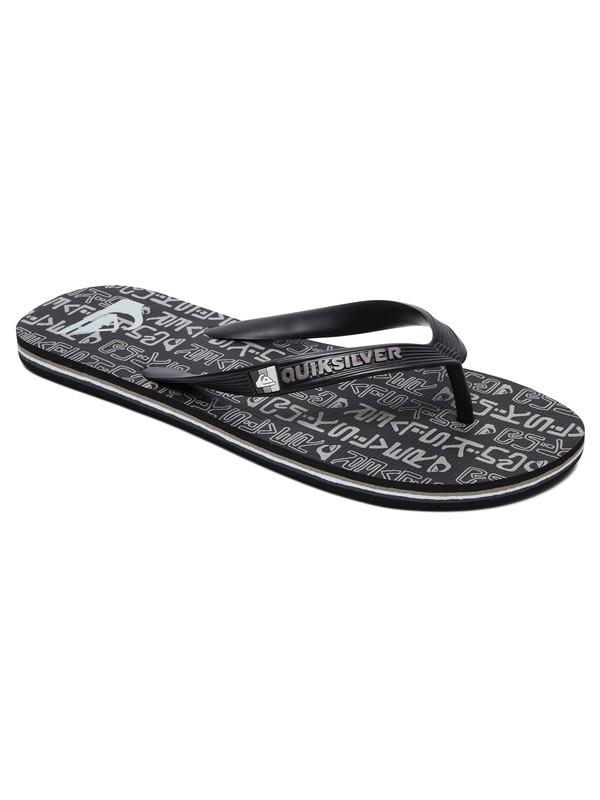 0 Molokai Random Flip-Flops Black AQYL100865 Quiksilver