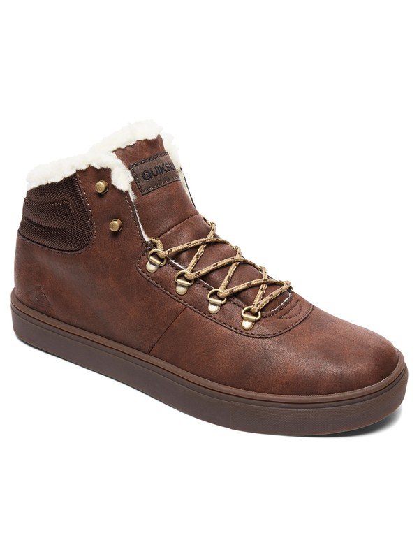 0 Jax - Water-Resistant High-Top Shoes for Men Brown AQYS100022 Quiksilver