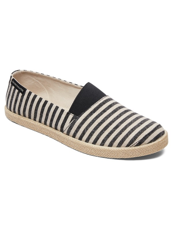 0 Espadrilled - Slip-On Shoes for Men Black AQYS700053 Quiksilver
