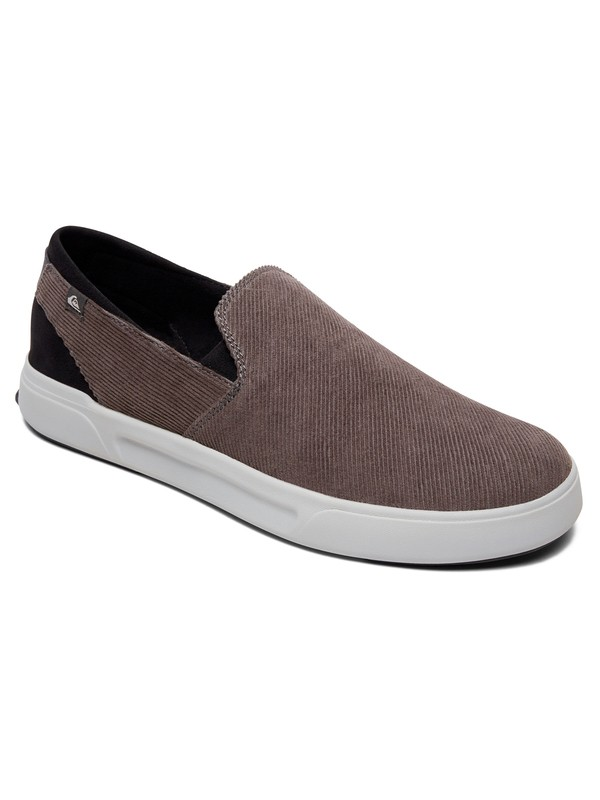 0 Surf Check Premium Slip-On Shoes Grey AQYS700054 Quiksilver
