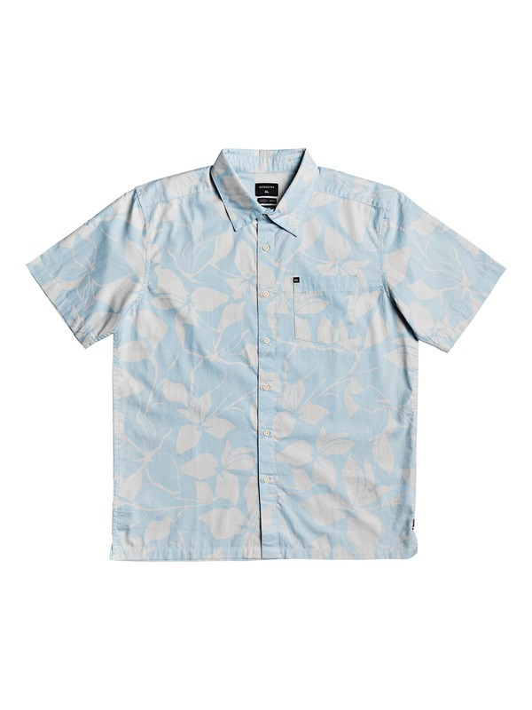 0 HI Makala Printed Short Sleeve Shirt White AQYWT03203 Quiksilver