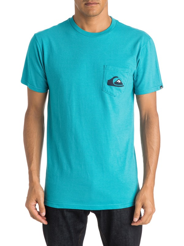 0 Everyday Logo Pocket - T-Shirt  AQYZT03815 Quiksilver