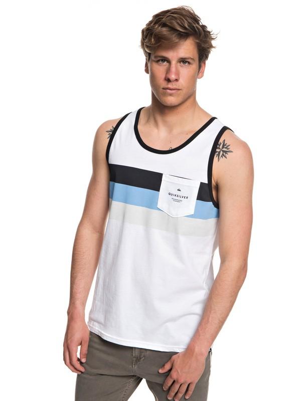 0 Peaceful Progression Vest White AQYZT05571 Quiksilver