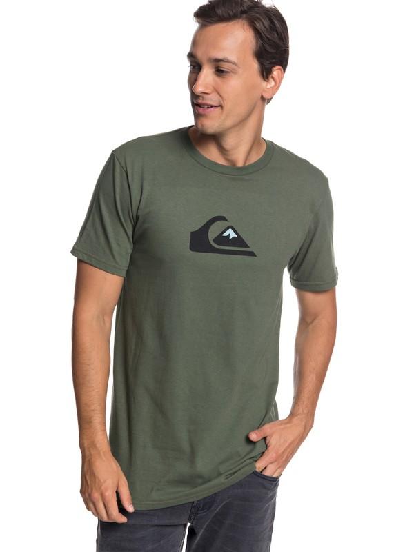 0 Comp Logo Tee Brown AQYZT05756 Quiksilver
