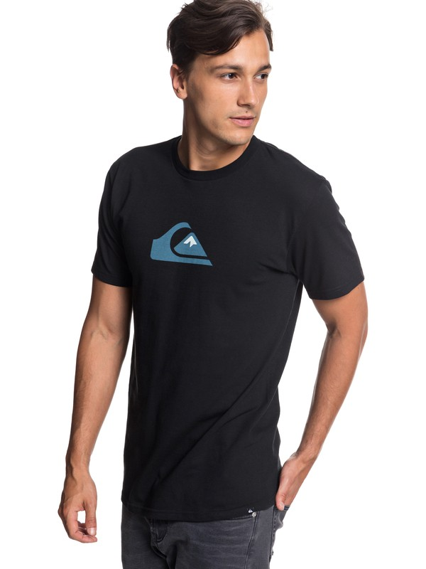 0 Comp Logo Tee Black AQYZT05756 Quiksilver