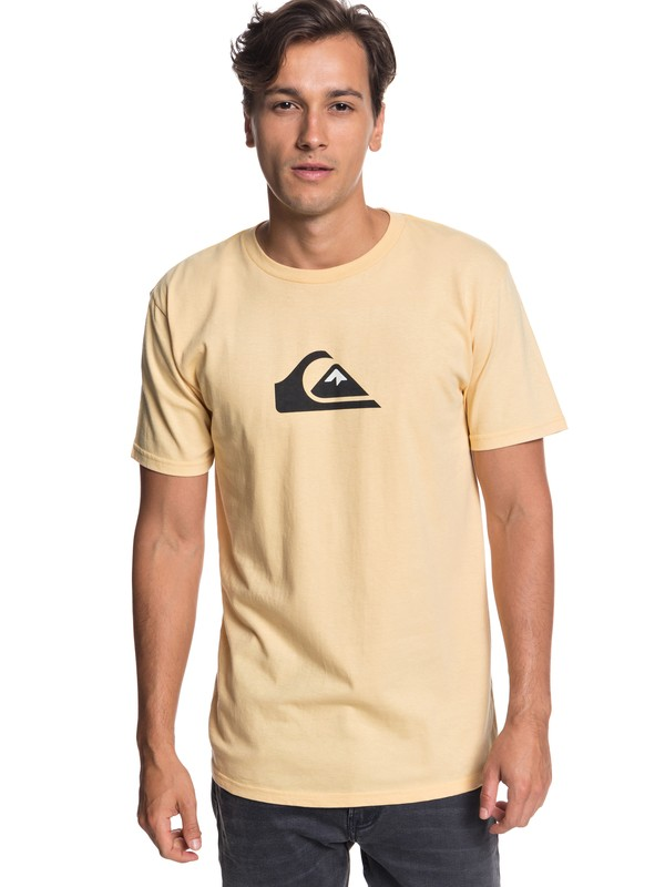 0 Comp Logo Tee Yellow AQYZT05756 Quiksilver