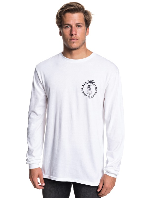 0 Diagoji Lies Long Sleeve Tee White AQYZT05781 Quiksilver
