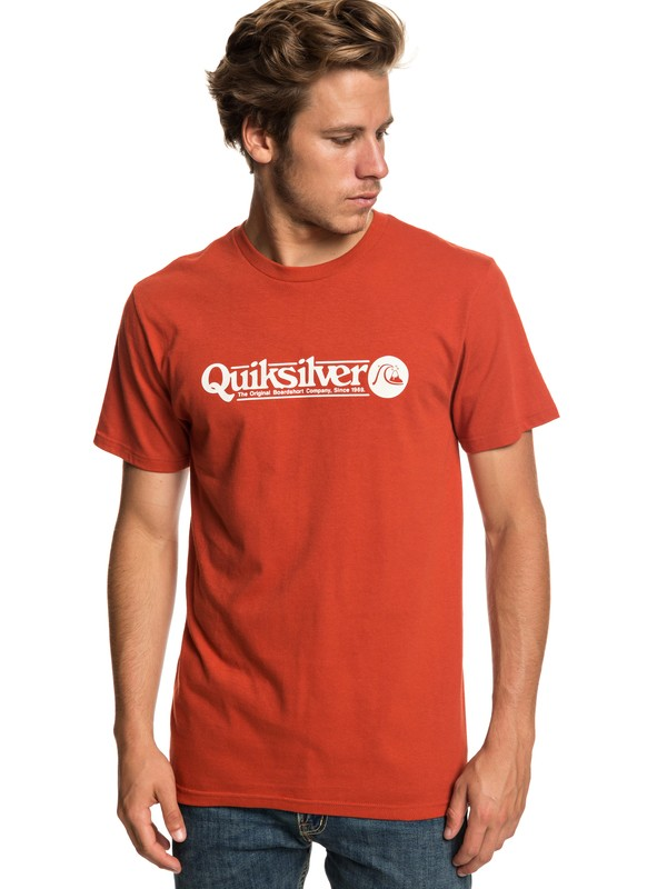 0 Art Tickle Tee Red AQYZT05911 Quiksilver