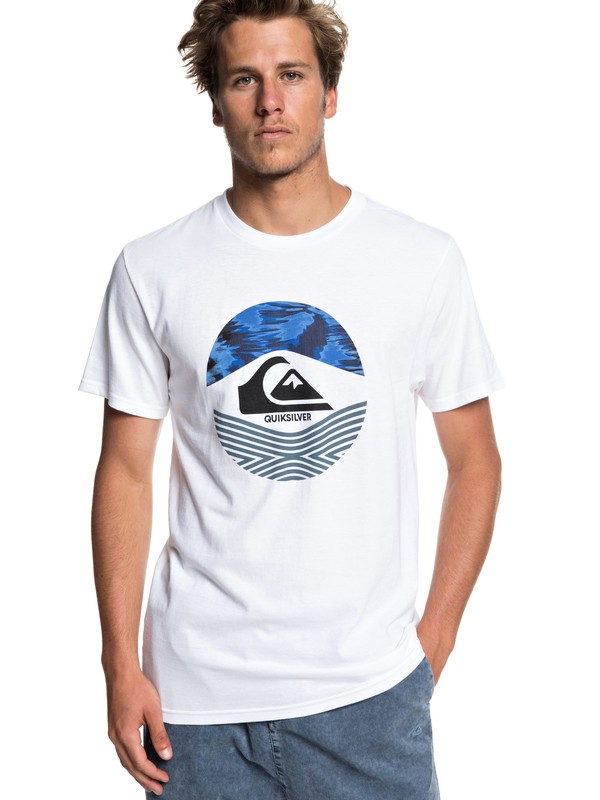 0 Stomped On Tee White AQYZT05916 Quiksilver