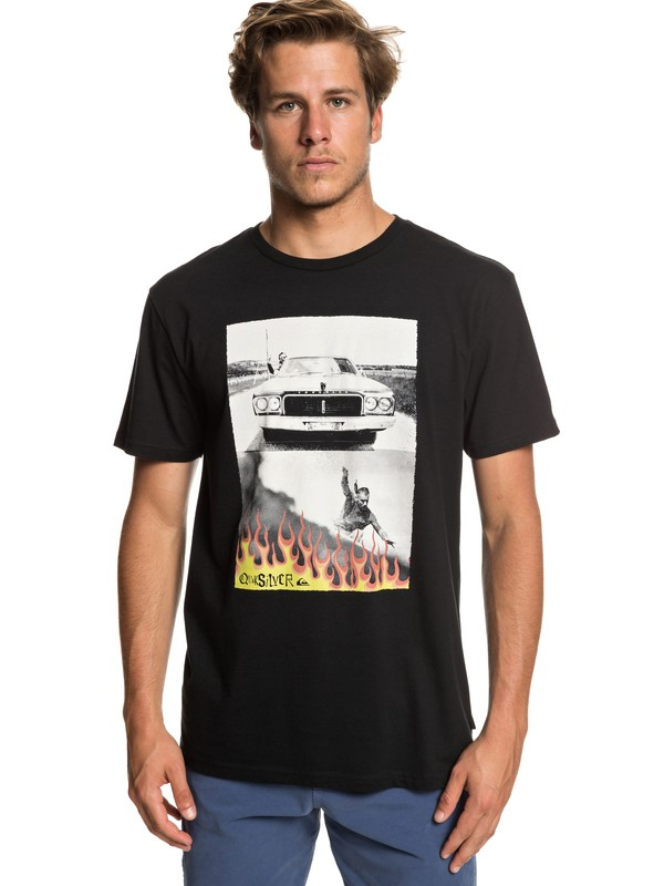 0 Camiseta Against All Odd Balls Negro AQYZT05928 Quiksilver