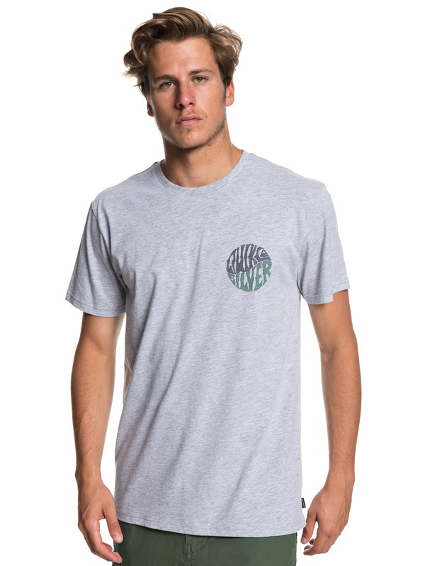 0 Knock Out Tee Grey AQYZT05933 Quiksilver
