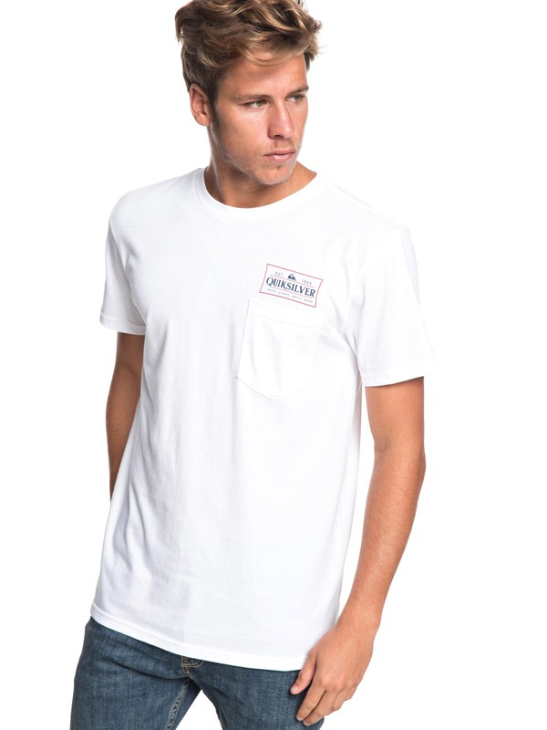 0 Grind Date Tee White AQYZT05938 Quiksilver