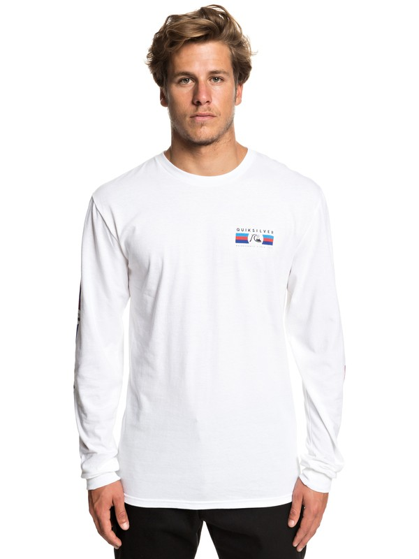 0 Step Up Step Down Long Sleeve Tee White AQYZT05942 Quiksilver