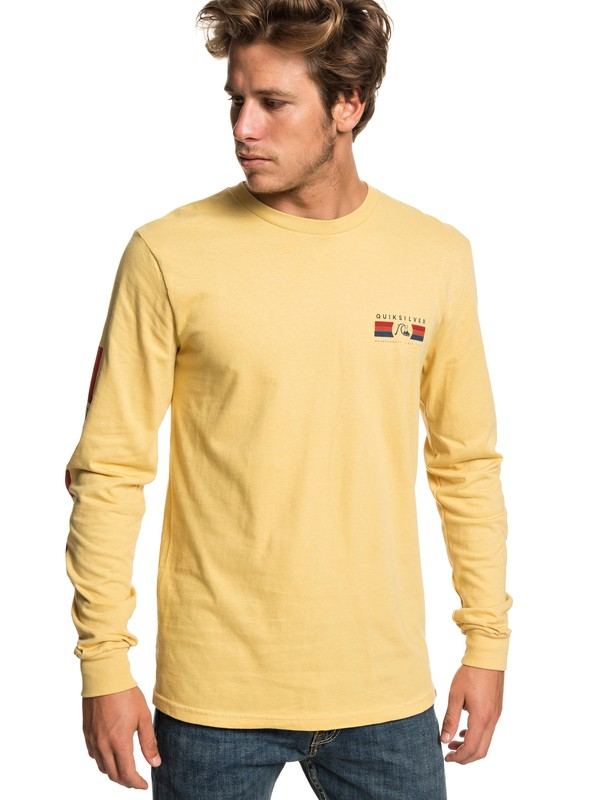 0 Step Up Step Down Long Sleeve Tee Yellow AQYZT05942 Quiksilver