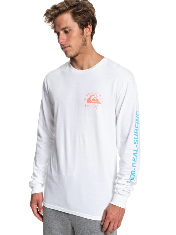 0 Good Nite Long Sleeve Tee White AQYZT05943 Quiksilver