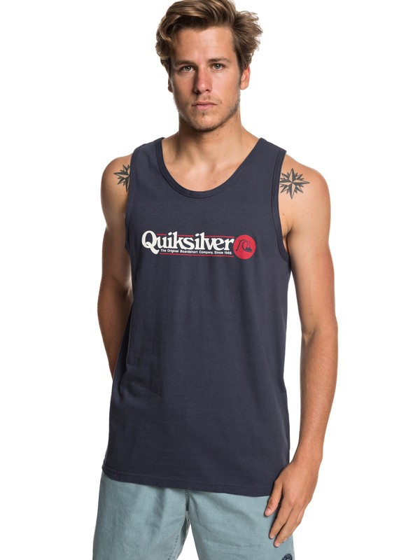 0 Art Tickle Tee Blue AQYZT05948 Quiksilver