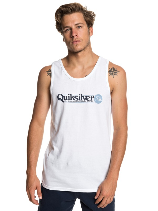 0 Art Tickle Tee White AQYZT05948 Quiksilver