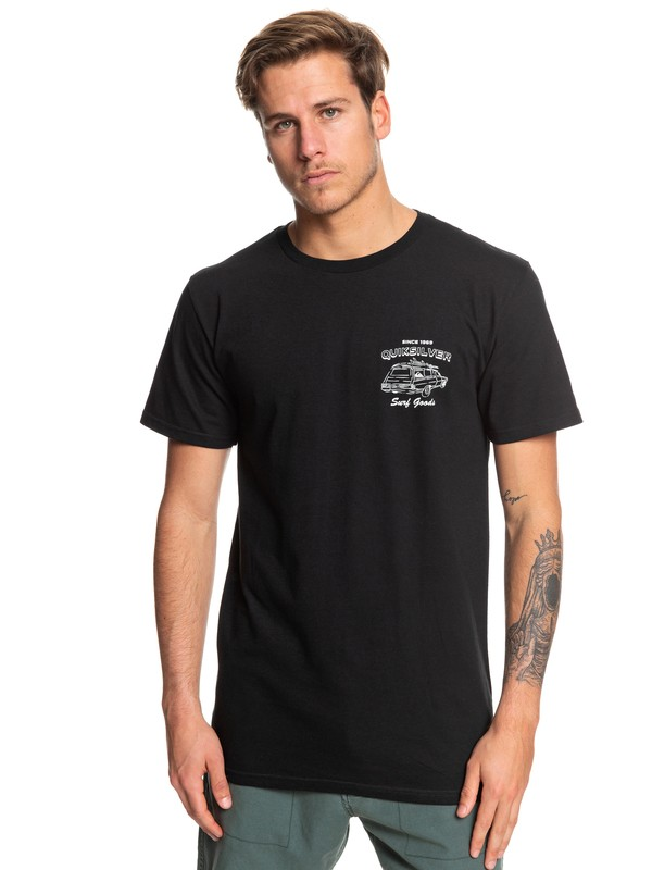 0 Home Of Surfing Tee Black AQYZT06060 Quiksilver