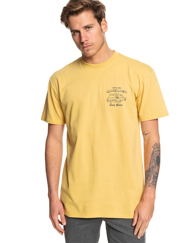 0 Home Of Surfing Tee Yellow AQYZT06060 Quiksilver