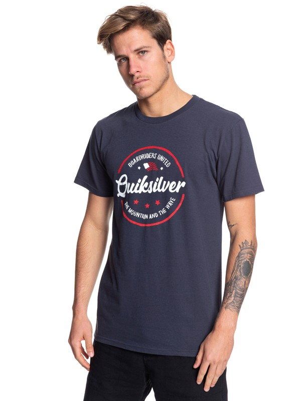 0 Mental Notes USA Tee Blue AQYZT06062 Quiksilver