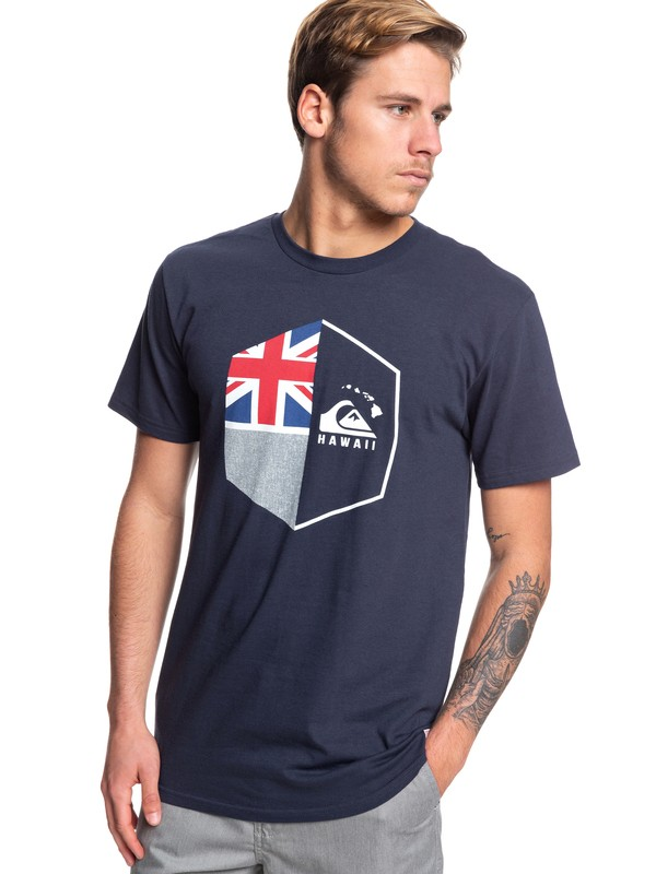 0 HI Shield Tee Blue AQYZT06068 Quiksilver