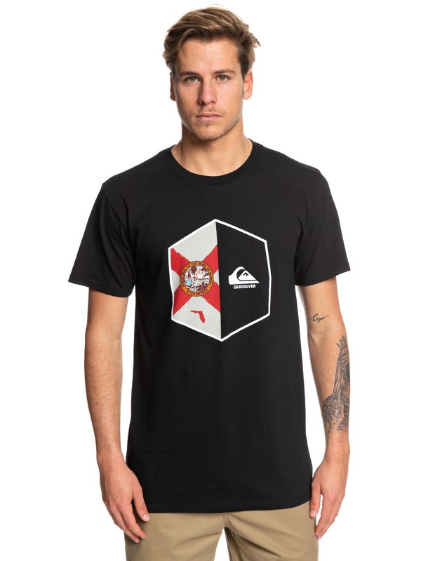 0 FL Shield Tee Black AQYZT06072 Quiksilver