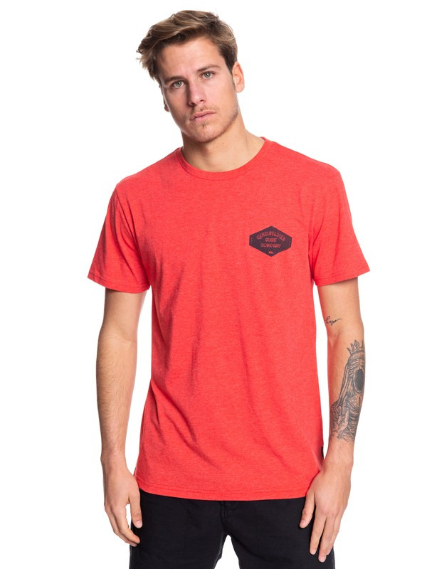 0 Curious Past Tee Red AQYZT06076 Quiksilver