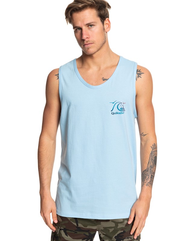 0 Faded Potential Tank Blue AQYZT06081 Quiksilver