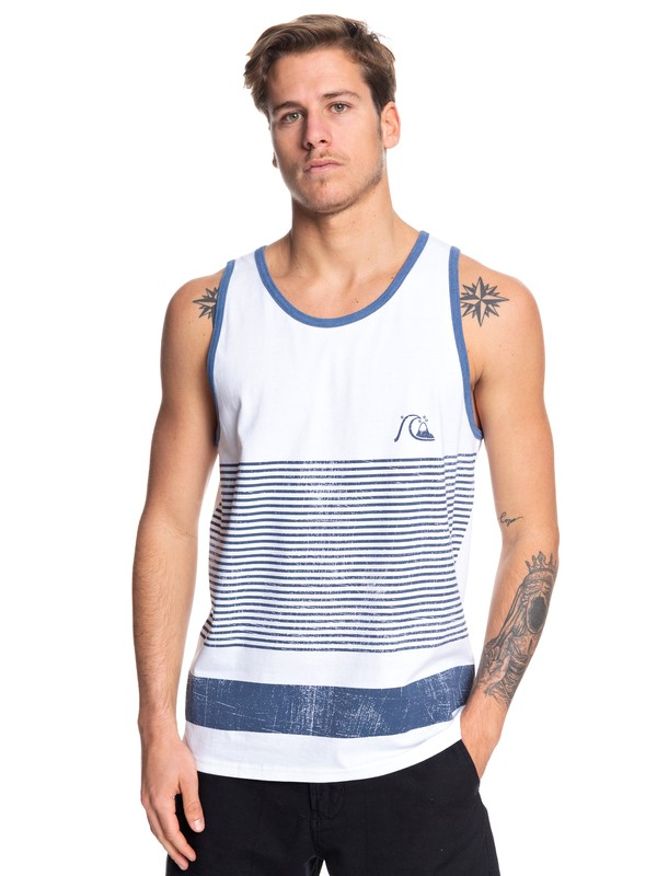0 Tijuana Stripe Tank White AQYZT06083 Quiksilver