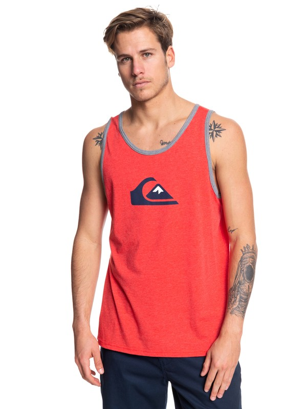 0 Comp Logo Tank Red AQYZT06086 Quiksilver