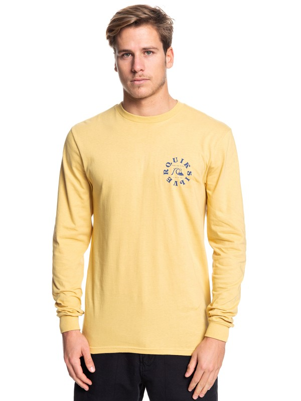 0 Ocean Age Long Sleeve Tee Yellow AQYZT06087 Quiksilver