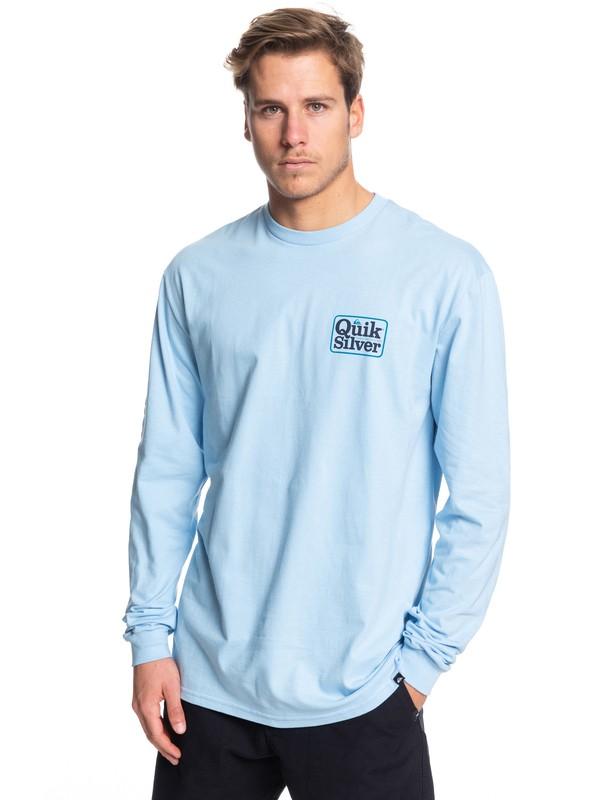 0 Born Adventurer Long Sleeve Tee Blue AQYZT06089 Quiksilver