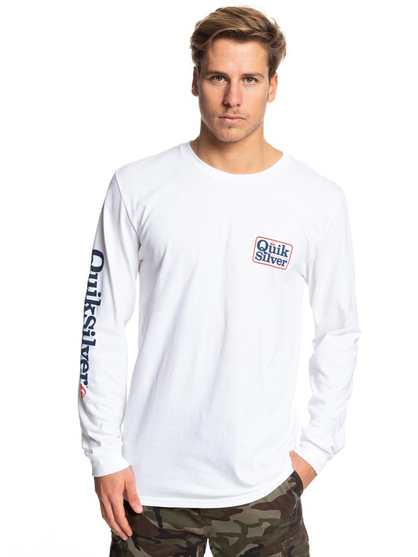 0 Born Adventurer Long Sleeve Tee White AQYZT06089 Quiksilver