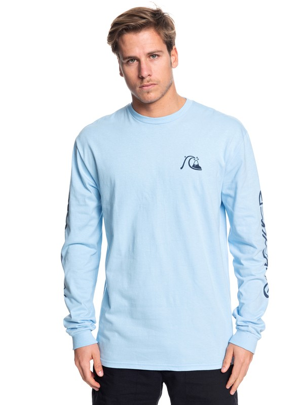 0 Too Many Rules Long Sleeve Tee Blue AQYZT06090 Quiksilver