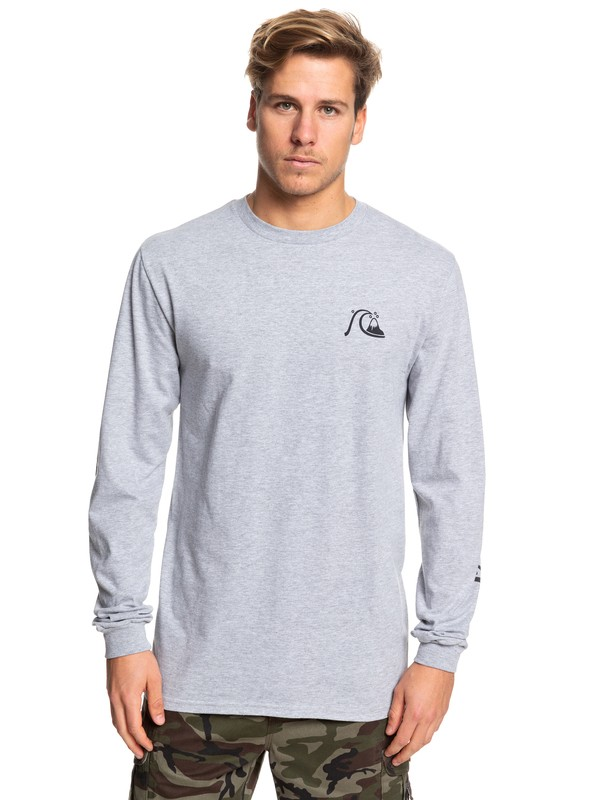 0 Too Many Rules Long Sleeve Tee Grey AQYZT06090 Quiksilver