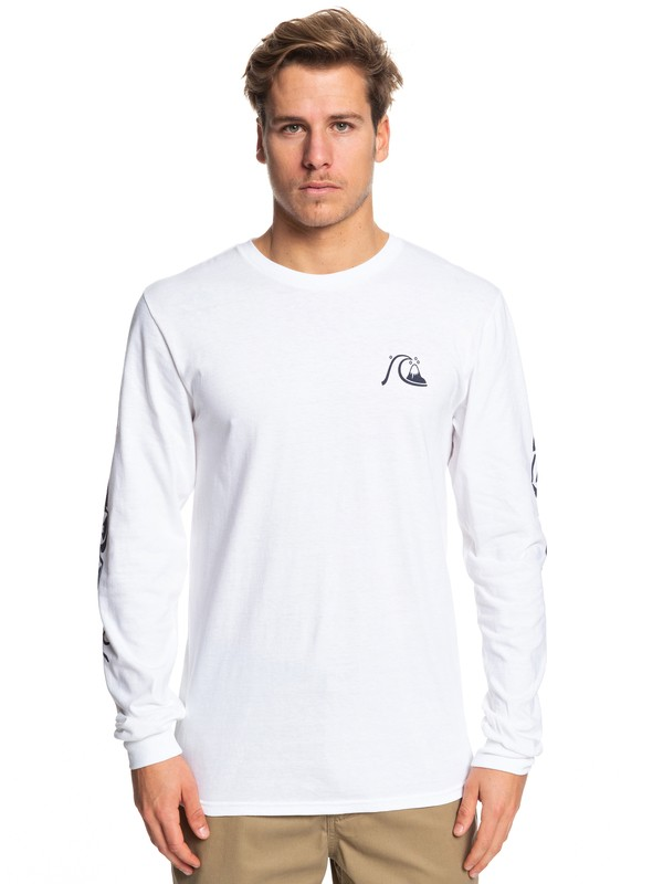 0 Too Many Rules Long Sleeve Tee White AQYZT06090 Quiksilver