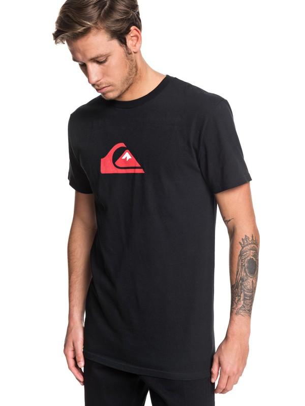 0 Comp Logo Tee Black AQYZT06175 Quiksilver