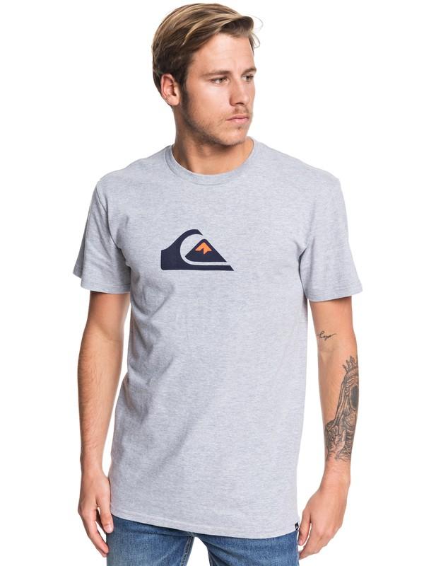 0 Comp Logo Tee Grey AQYZT06175 Quiksilver