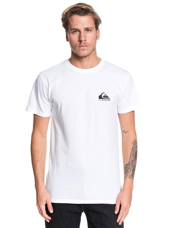 0 Omni Logo Tee White AQYZT06178 Quiksilver