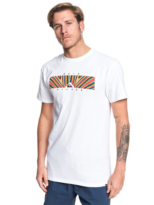 0 Box Heat Tee White AQYZT06180 Quiksilver