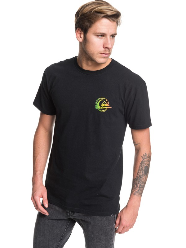 0 Faded Seas Tee Black AQYZT06182 Quiksilver