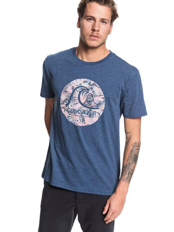 0 Custom Prints Tee Blue AQYZT06204 Quiksilver