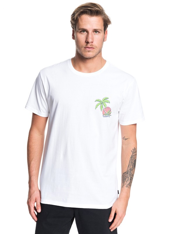 0 In The Jungle - T-Shirt for Men Blanco AQYZT06206 Quiksilver