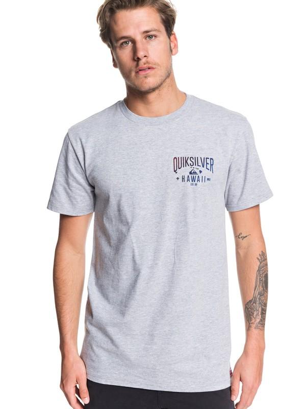 0 HI Garage Tee Grey AQYZT06219 Quiksilver