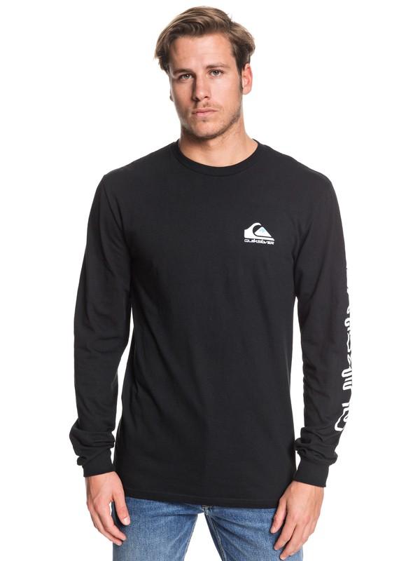 0 Omni Logo Long Sleeve Tee Black AQYZT06226 Quiksilver