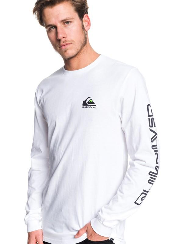 0 Omni Logo Long Sleeve Tee White AQYZT06226 Quiksilver