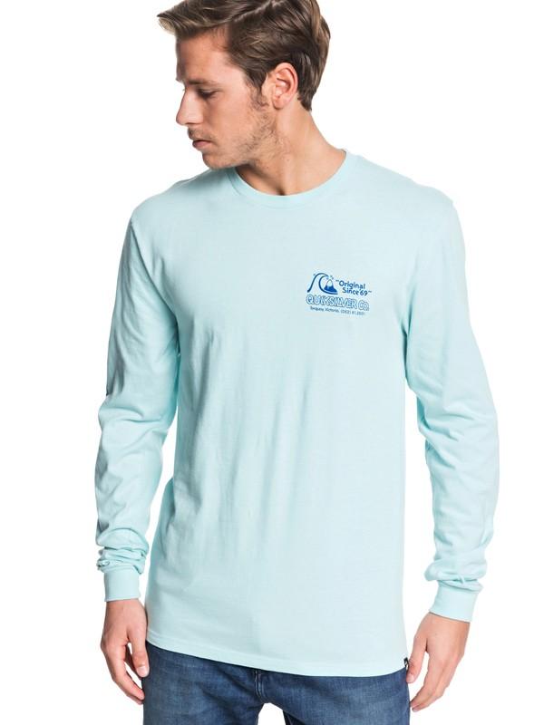 0 Daily Wax Long Sleeve Tee Blue AQYZT06228 Quiksilver
