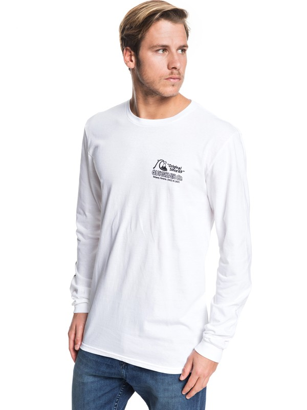 0 Daily Wax Long Sleeve Tee White AQYZT06228 Quiksilver