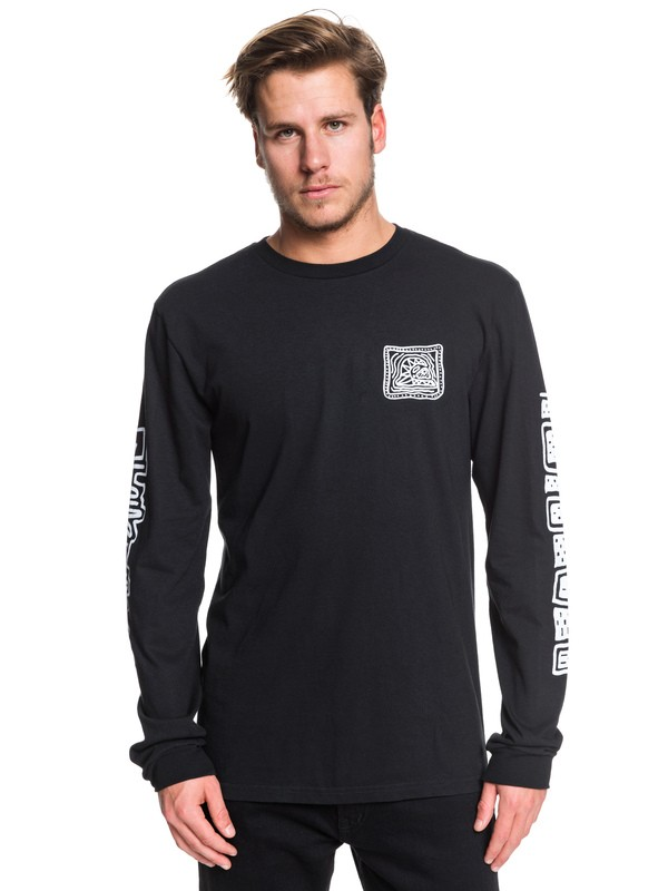 0 Bright Eye Long Sleeve Tee Black AQYZT06230 Quiksilver