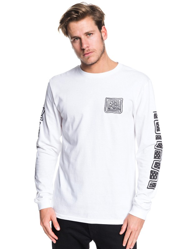 0 Bright Eye Long Sleeve Tee White AQYZT06230 Quiksilver